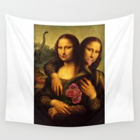 twins Wall Tapestries featuring Monalisa Twins by barmalisiRTB