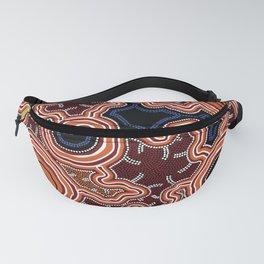 Aboriginal Art Authentic - Pathways Fanny Pack