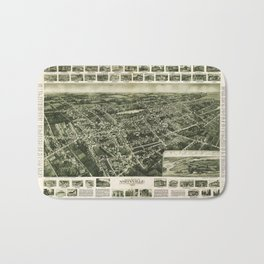 Aerial View of Amityville, New York (1925) Bath Mat