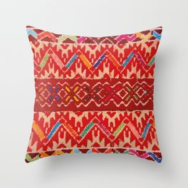 Tela Chiapaneca fabric Throw Pillow