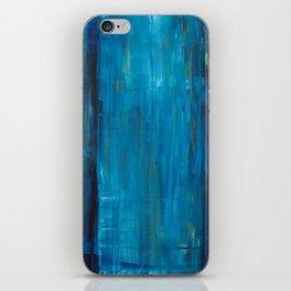 blue vertical iPhone Skin