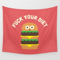 Discounting Calories Wall Tapestry