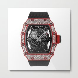 Richard Mille 35-02 Rafael Nadal Diamond Red Quartz TPT Automatic 49MM Metal Print