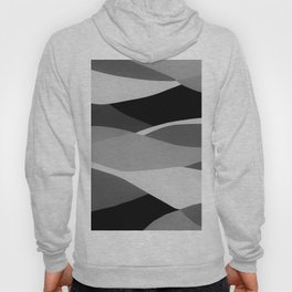 Gray and Pewter Waves Hoody