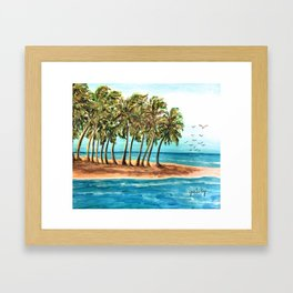 Private Island Painting Framed Art Print