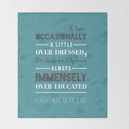Oscar Wilde - poster Throw Blanket