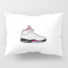 Jordan 5 Retro Fire Red Silver Tongue Pillow Sham