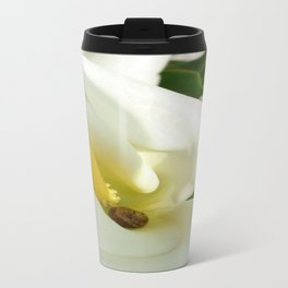 Beautiful Calla Flower On Green Natural Background Travel Mug