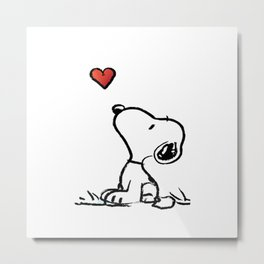Snoopy Love Metal Print