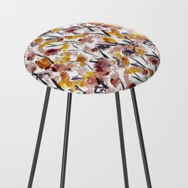Watercolor Floral 2 Counter Stool
