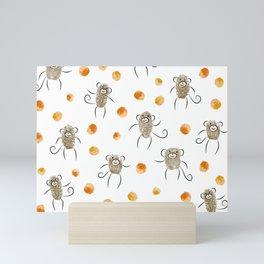 5 Little Monkeys Mini Art Print