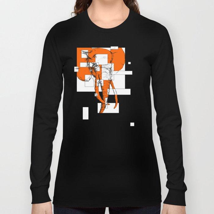 Orange is the New Elephant Long Sleeve T-shirt