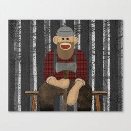 Sockmonkey Lumberjack Canvas Print