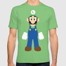 Luigi - Minimalist - Nintendo Mens Fitted Tee Grass LARGE