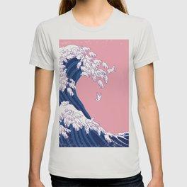 Llama Waves in Pink T-shirt