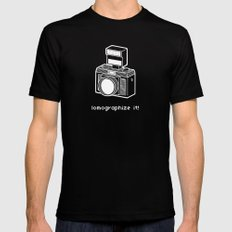 lomographize it! (light blue) Mens Fitted Tee MEDIUM Black