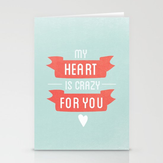 Crazy For You Stationery Cards