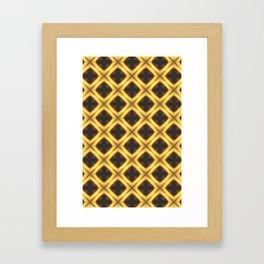 Yellow and Black Diamonds Framed Art Print
