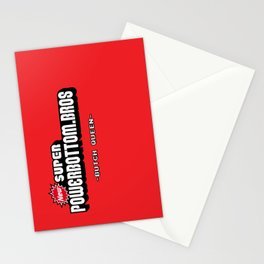 BQ - Super Power Bottom Bros Stationery Cards
