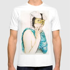 Smoking bunny Mens Fitted Tee White MEDIUM
