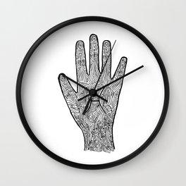 Pisces Hand / Hamsa Wall Clock