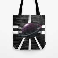 saturn Tote Bags featuring Saturn by Isaak_Rodriguez