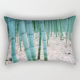 The Bamboo Grove, Arashiyama, Kyoto Rectangular Pillow
