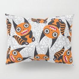 Funny orange monster Pillow Sham