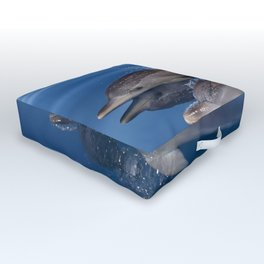 Beautiful Spotted dolphins Stenella frontalis Outdoor Floor Cushion