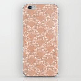 Elegant blush pink mermaid fish scale pattern iPhone Skin