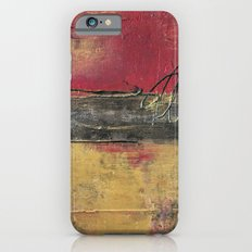 Metallic Square Series I - Red and Gold Urban Abstract Painting iPhone 6s Slim Case