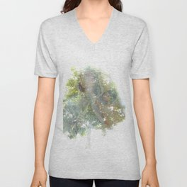 Where the sea sings to the trees - 11 Unisex V-Neck