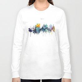 Oakland California Blue  skyline print Long Sleeve T-shirt