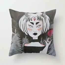 brimstone girl Throw Pillow