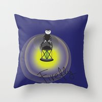firefly Throw Pillows featuring Firefly by Tink.hr