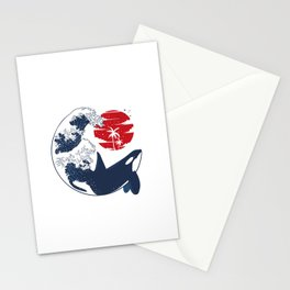 Wave Killer Whale Stationery Cards