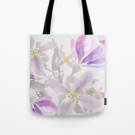 Floaty Floral Tote Bag