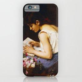 Alexej Alexejewitsch Charlamoff  -  A Girl Reading iPhone Case