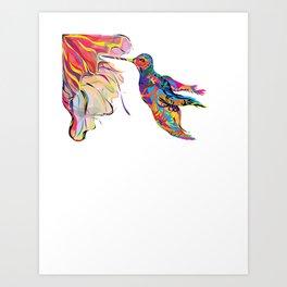 """Humhumbird"" Paulette Lust's whimsical, colorful, contemporary, original, fun, art.  Art Print"