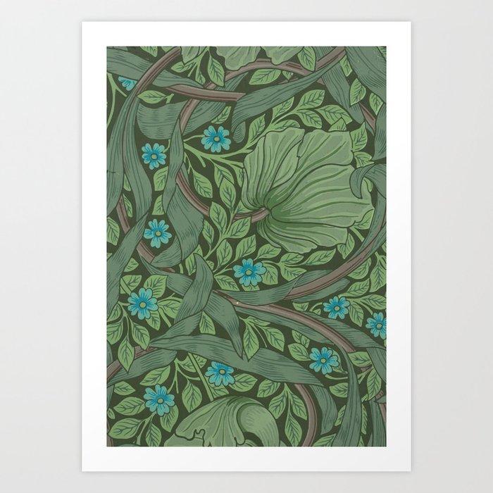 """William Morris """"Forget-Me-Nots"""" (""""Pimpernel"""" detail) Kunstdrucke"""