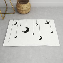 Kennah's Dream in Black and White Rug
