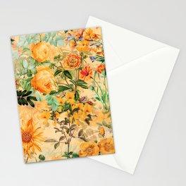 Vintage & Shabby Chic -  Sunny Gold Botanical Flowers Summer Day Stationery Cards