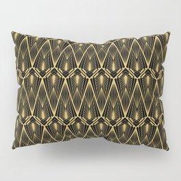 Art Deco Squares and Diamonds of Gold Pillow Sham