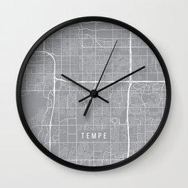 Tempe Map, Arizona USA - Pewter Wall Clock