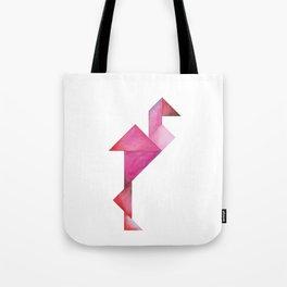 Tangram Flamingo Tote Bag