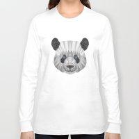 panda Long Sleeve T-shirts featuring panda by Nir P