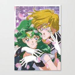 Sailor Uranus and Neptune Canvas Print