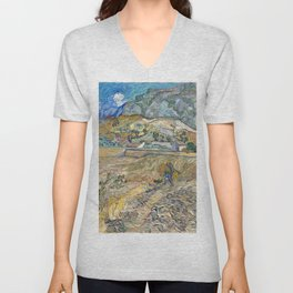 Landscape at Saint-Rémy by Vincent van Gogh Unisex V-Neck