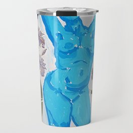Ice Girl Dancing Woman Amongst Flowers Travel Mug