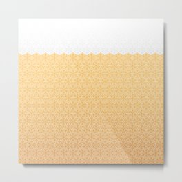 Winter foamy honeycomb Metal Print